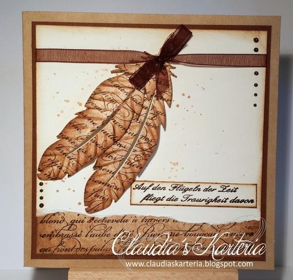 Wanduhr Design Uhrzeiger Vogelfedern Fasan Feather Clock