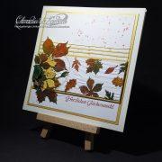 Herbstblätter auf Gold | Glückwunschkarte