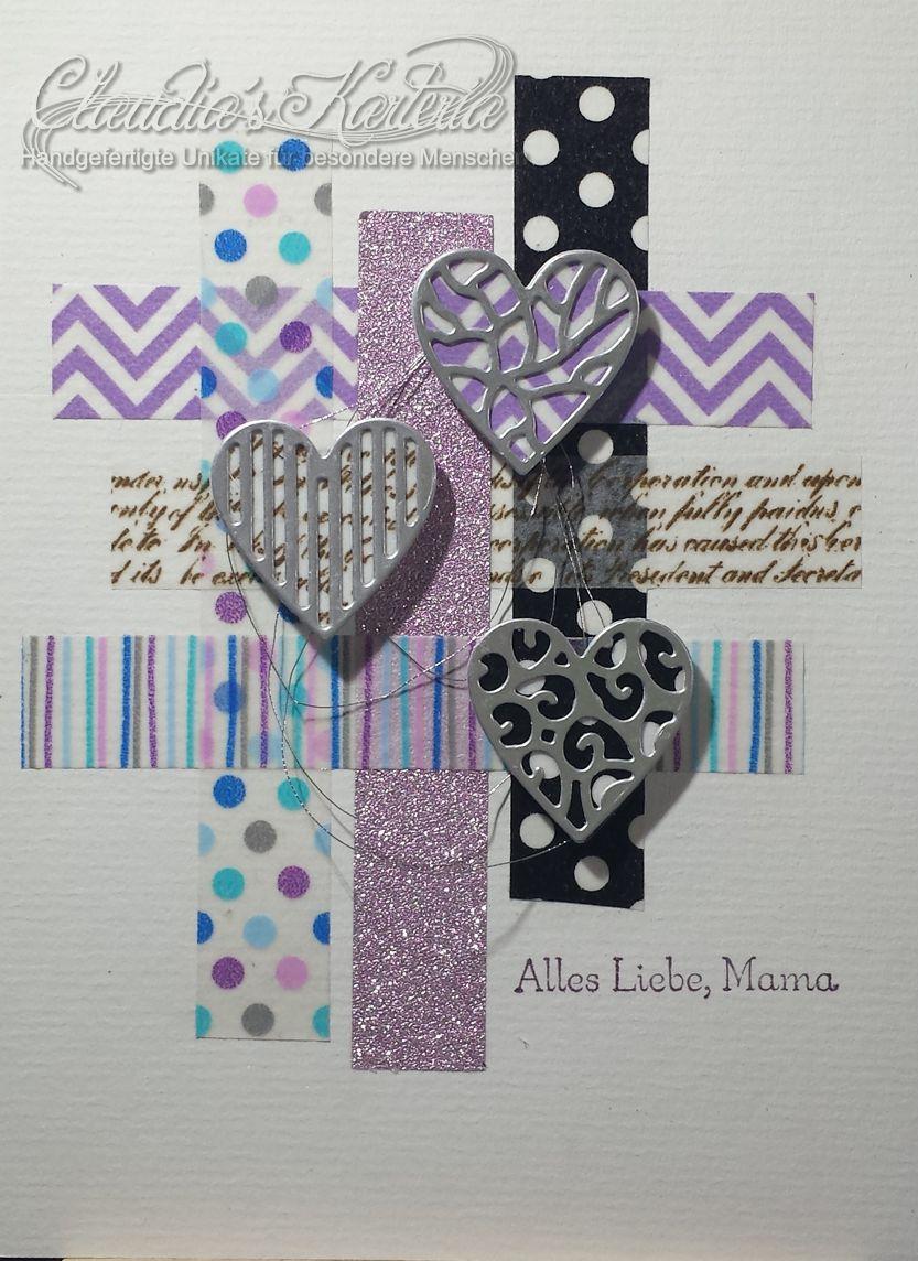 Alles Liebe Mama auf Washi | Muttertagskarte