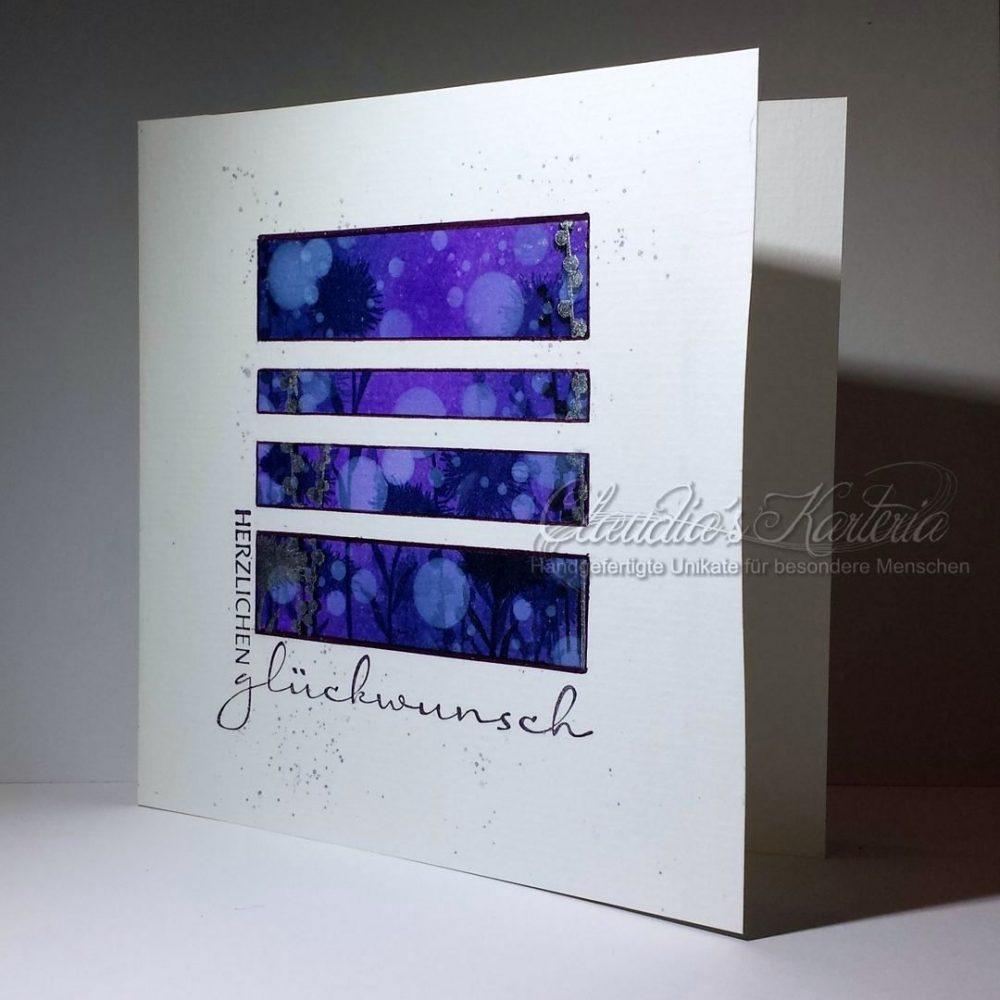 Träumerische Grüsse mit Bokeh | Glückwunschkarte