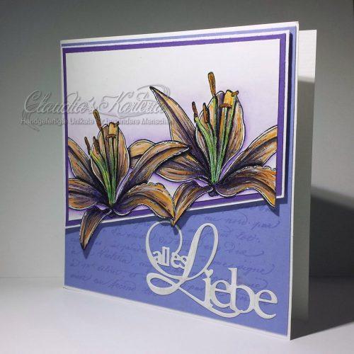 Lilie auf alles Liebe | Geburtstagskarte