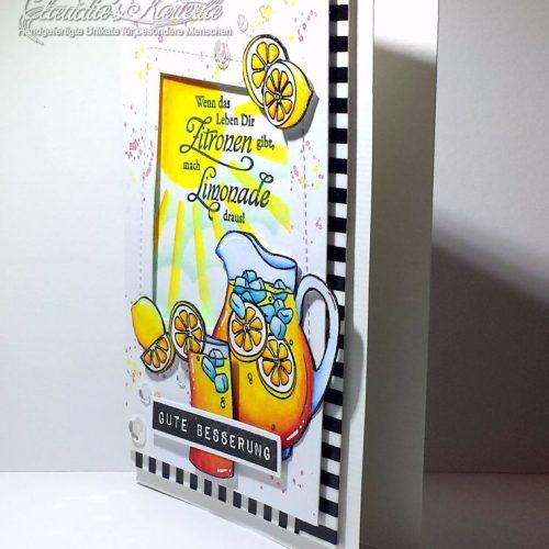 Zitronen, mach Limonade draus orange-gelb | Gute Besserungskarte