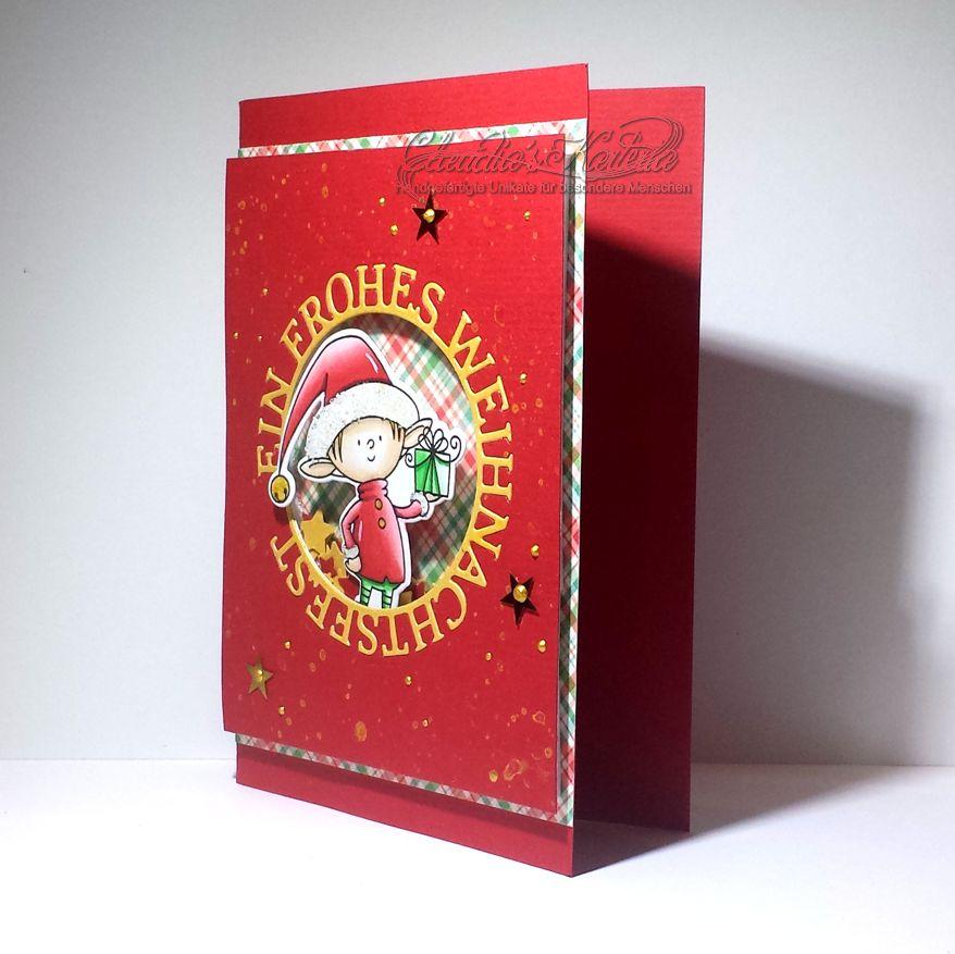 Weihnachtselfe auf Schüttelkarte | Weihnachtskarte