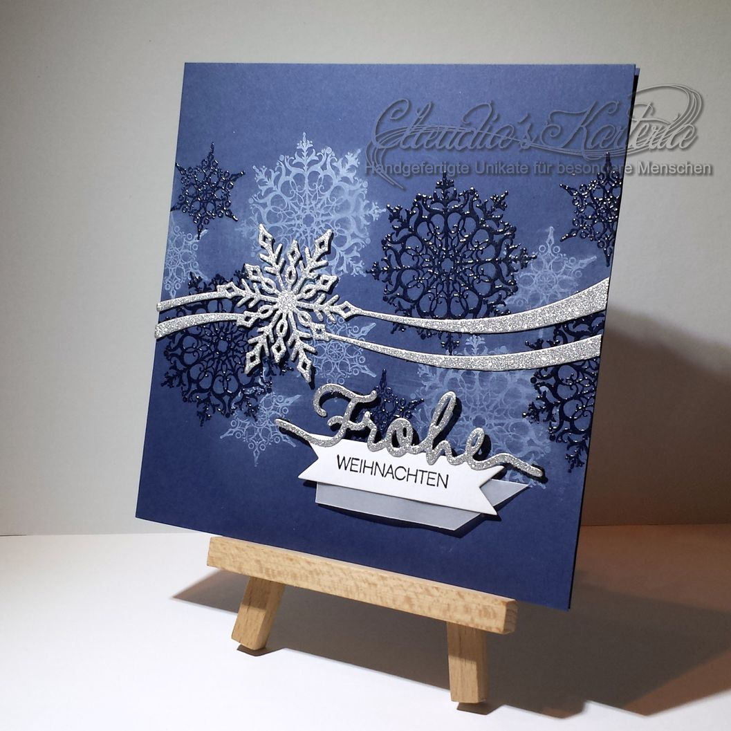 glitzernde frohe weihnachten weihnachtskarte claudia 39 s. Black Bedroom Furniture Sets. Home Design Ideas