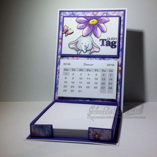 Gänseblümchenfanti - violett | Aufstellkalender