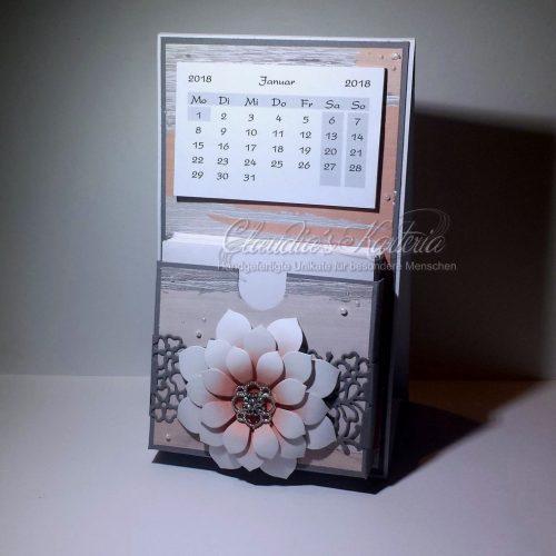 Romantische Blume - apricot | Aufstellkalender