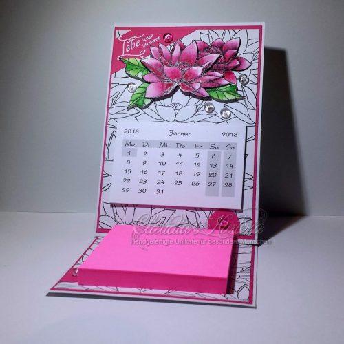 Lotus für jeden Moment - pink | Aufstellkalender