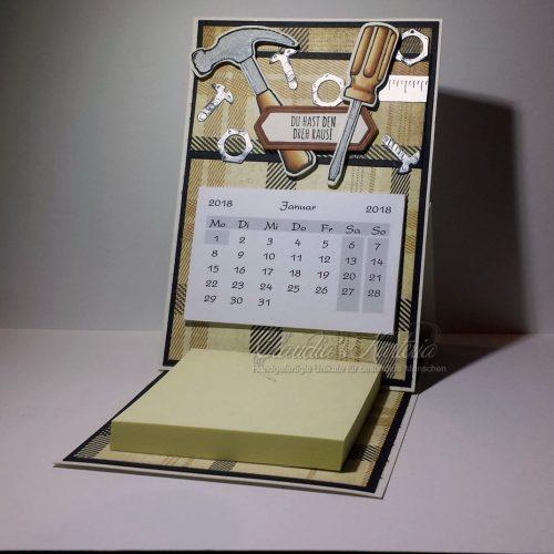 Werkzeugkiste - beige-braun | Aufstellkalender