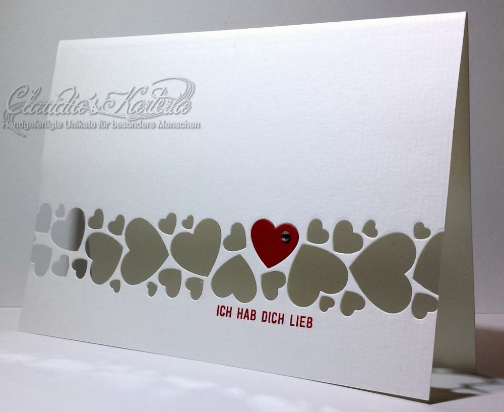 Herzenmeer - ich hab Dich lieb | Valentinskarte