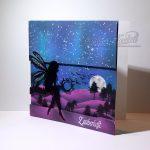 Zauberhafte Elfenwelt - violet-blau | Grusskarte