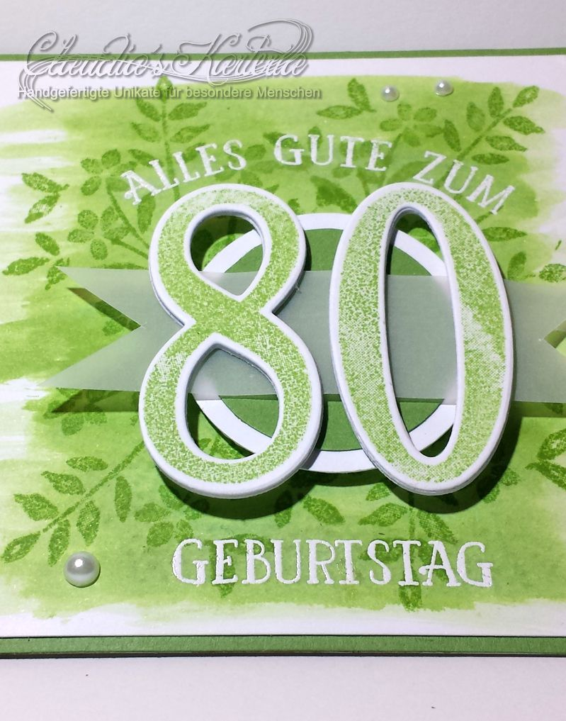 Zum 80igsten alles Gute in grün | Geburtstagskarte