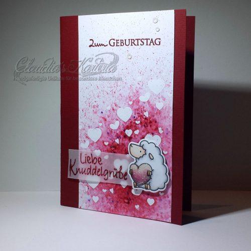 Knuddelgrüsse in rot | Geburtstagskarte