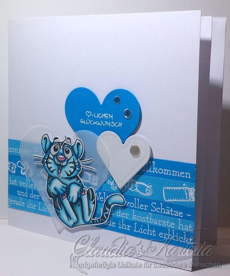 Herzlicher Baby-Tiger zur Geburt | Geburtskarte