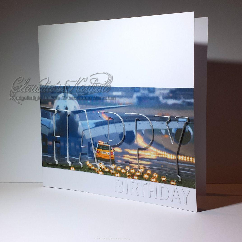 Spezialanfertigung: Happy Birthday mit Airport Gusti   Geburtstagskarte