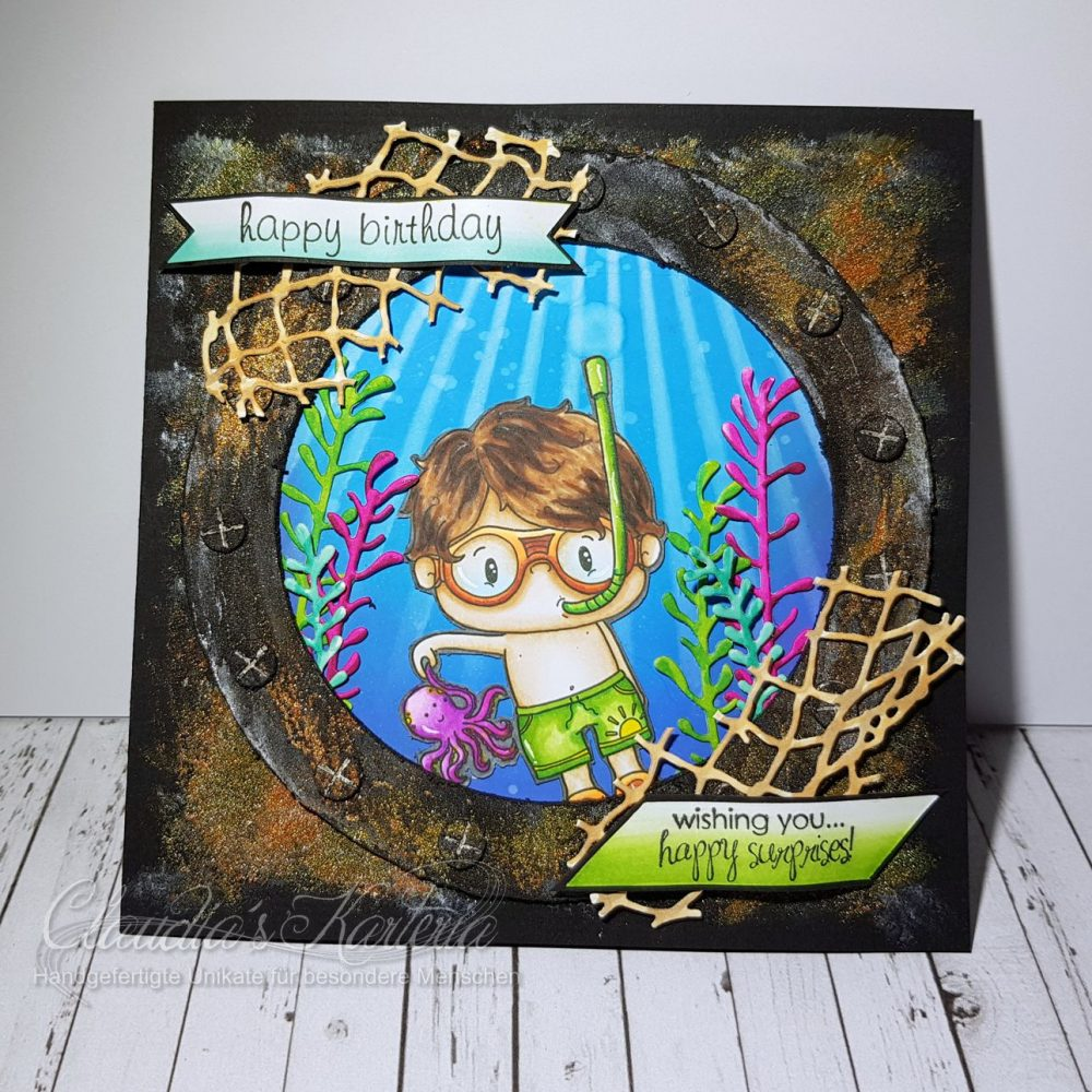 Unterwasser-Überraschungen   Geburtstagskarte