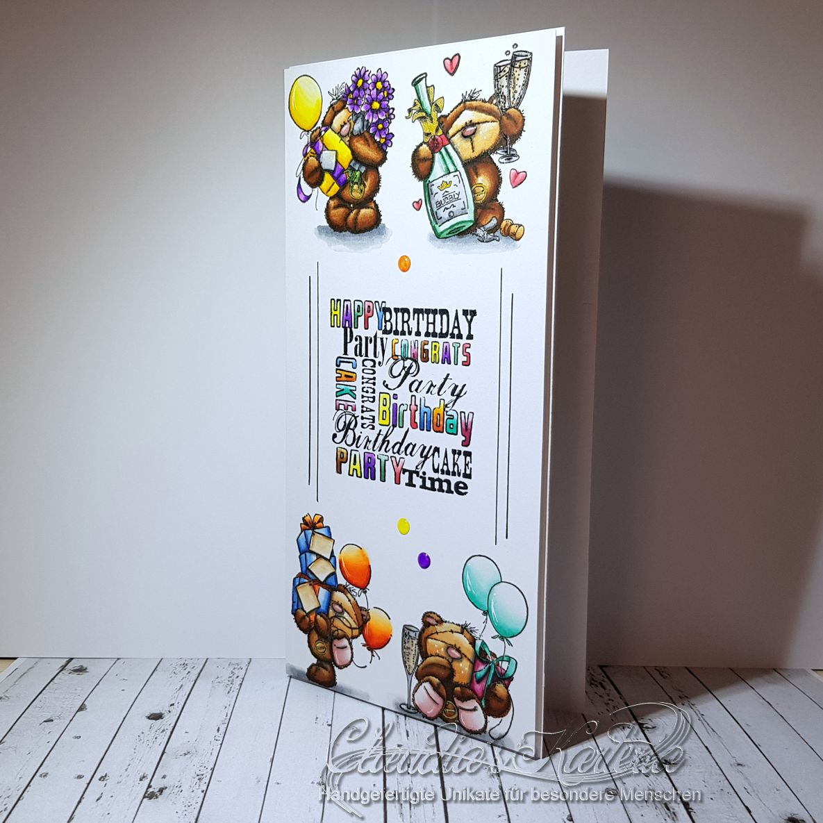 Bärige Geburtstagsparty   Geburtstagskarte