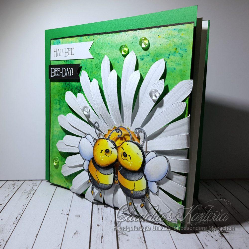 Hap-bee Bienchen auf Margerite | Geburtstagskarte