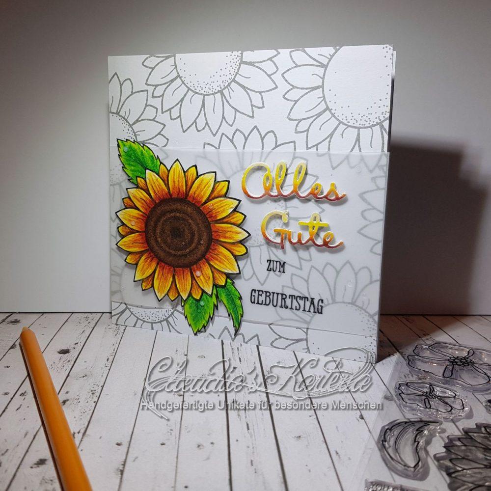 Sonnenblumische Geburtstagsgrüsse | Geburtstagskarte