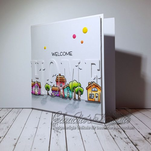 Welcome Home in the Village | Willkommenskarte