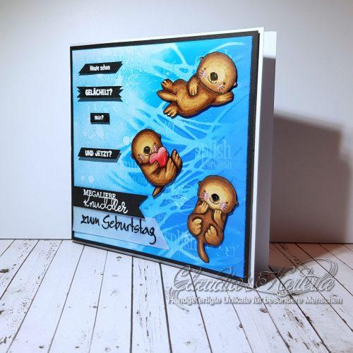 Heute schon gelächelt - megaliebe Knuddel-Otter   Geburtstagskarte