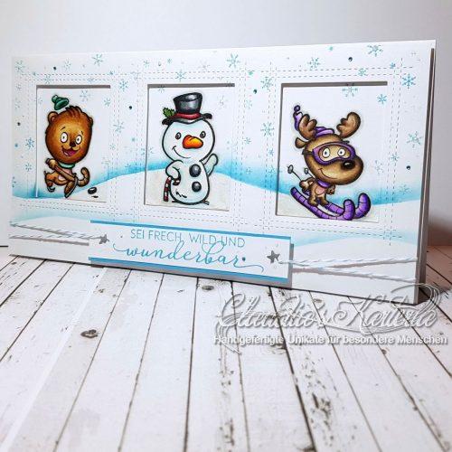 Frech, wild und wunderbar - Winterfreuden | Geburtstagskarte