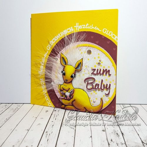 Baby Känguru Glückwünsche | Geburtskarte