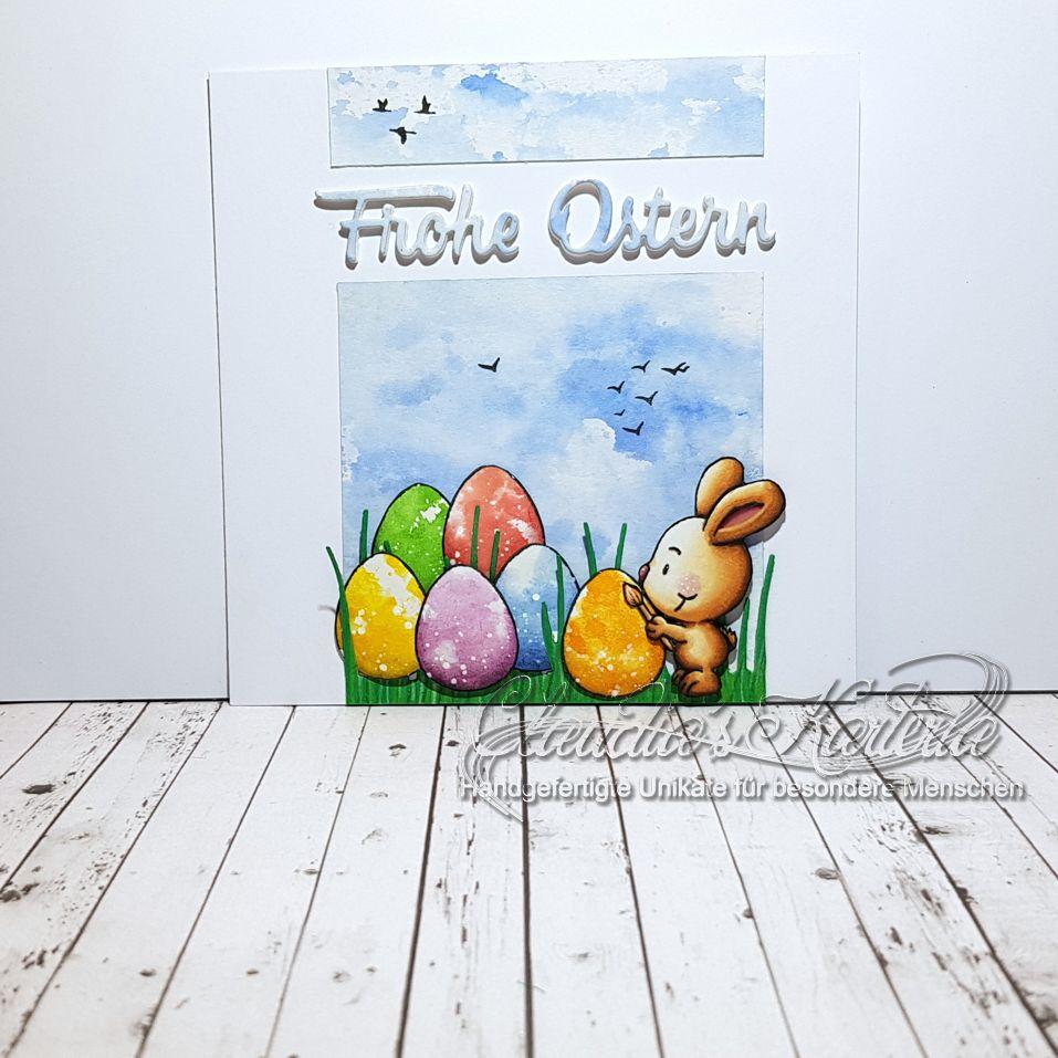 Kreativer Eier-Hase | Osterkarte