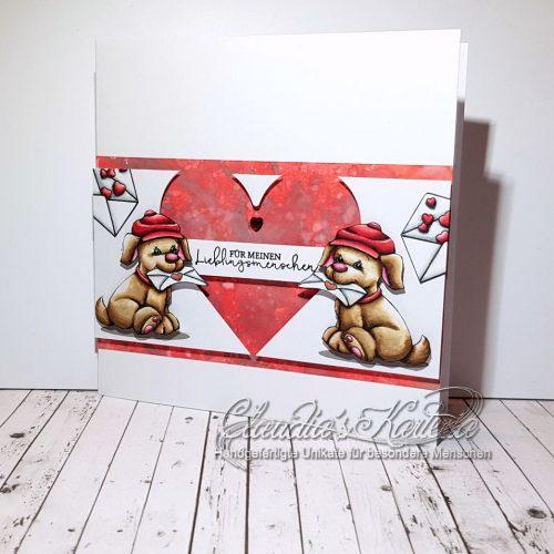 Süsse Valentins-Sonderlieferung | Valentinskarte