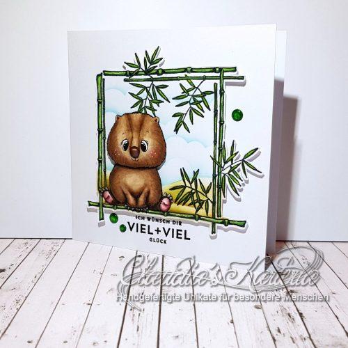 Ein viel + viel Glücks-Wombat | Glückwunschkarte