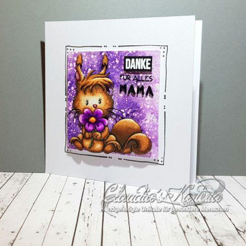 Blumiges Dankes-Eichhörnchen | Muttertagskarte