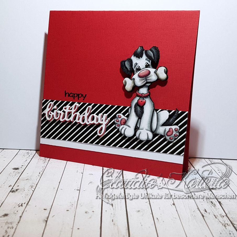 Happy Hundeknochen-Birthday | Geburtstagskarte
